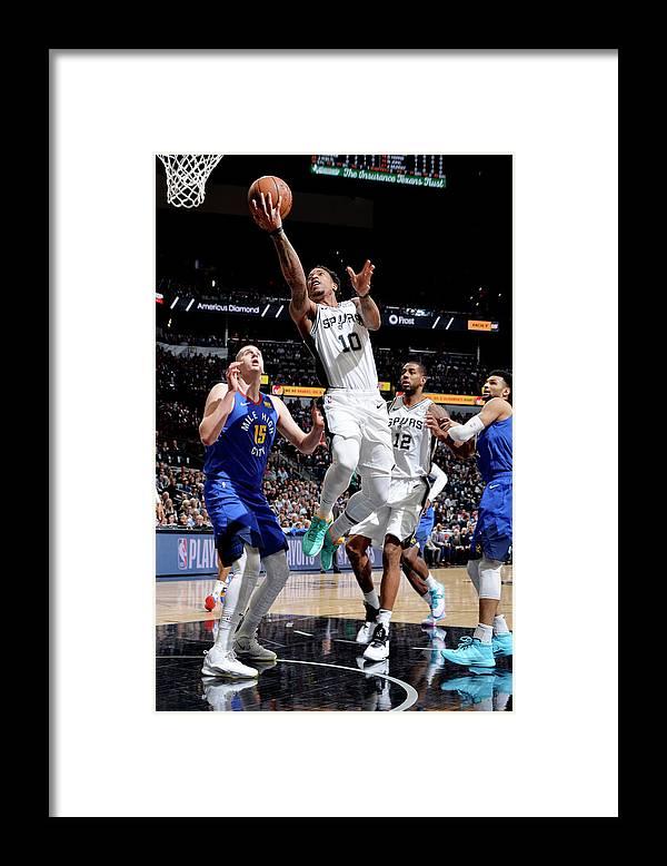 Playoffs Framed Print featuring the photograph Demar Derozan by Mark Sobhani