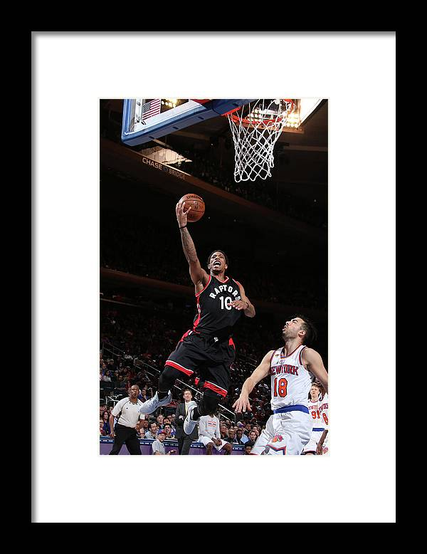 Nba Pro Basketball Framed Print featuring the photograph Demar Derozan by Nathaniel S. Butler