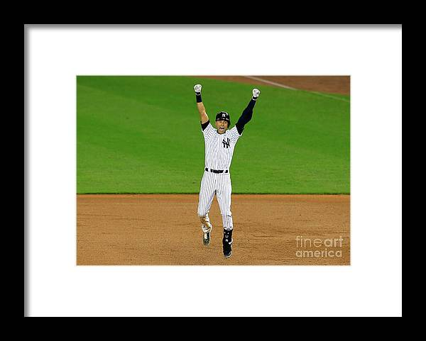 Ninth Inning Framed Print featuring the photograph Derek Jeter by Alex Trautwig