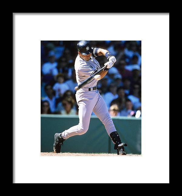 People Framed Print featuring the photograph Derek Jeter by Ronald C. Modra/sports Imagery