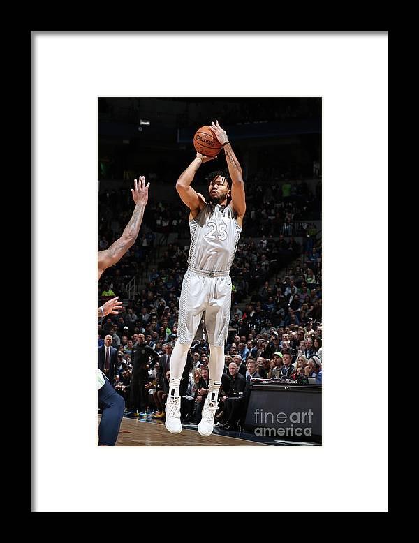 Nba Pro Basketball Framed Print featuring the photograph Derrick Rose by David Sherman