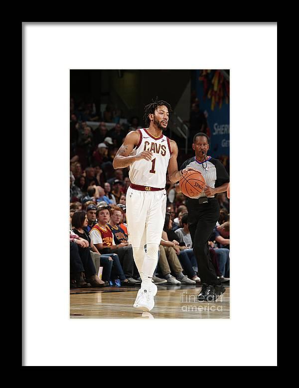 Nba Pro Basketball Framed Print featuring the photograph Derrick Rose by Gary Dineen