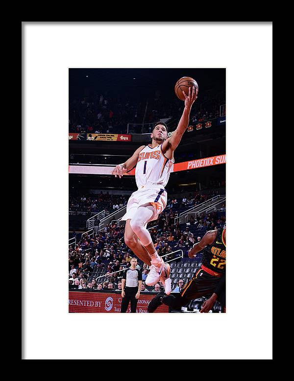 Nba Pro Basketball Framed Print featuring the photograph Devin Booker by Michael Gonzales