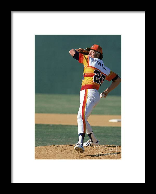 1980-1989 Framed Print featuring the photograph Don Sutton by Rich Pilling