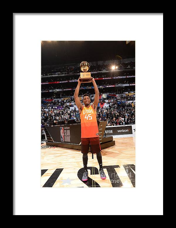 Event Framed Print featuring the photograph Donovan Mitchell by Andrew D. Bernstein