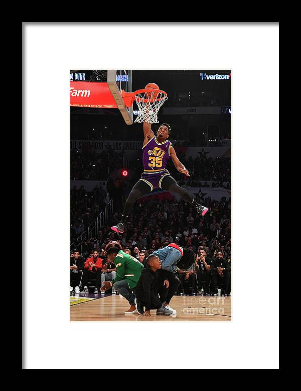 Event Framed Print featuring the photograph Donovan Mitchell by Jesse D. Garrabrant