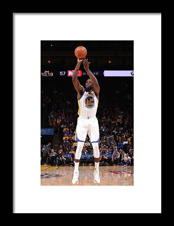 Nba Pro Basketball Framed Print featuring the photograph Draymond Green by Noah Graham