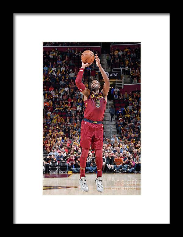 Nba Pro Basketball Framed Print featuring the photograph Dwyane Wade by David Liam Kyle