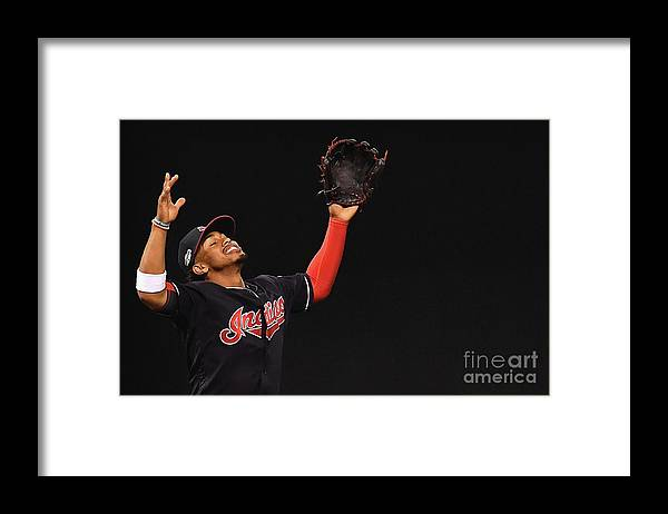 Game Two Framed Print featuring the photograph Francisco Lindor by Jason Miller