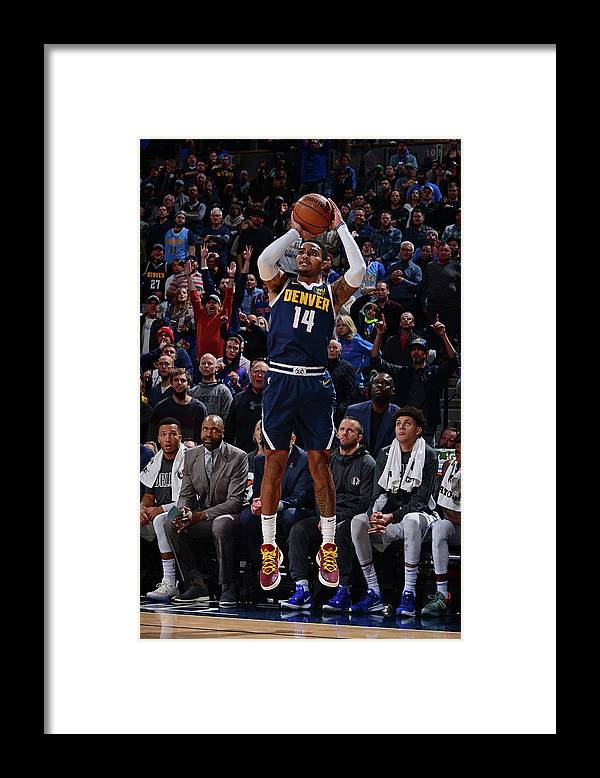 Nba Pro Basketball Framed Print featuring the photograph Gary Harris by Bart Young