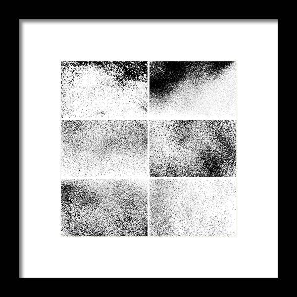 Rectangle Framed Print featuring the drawing Grunge backgrounds by Ulimi