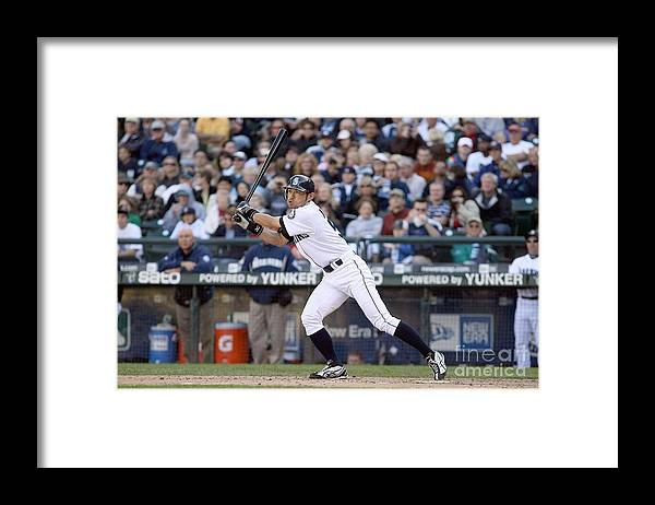 American League Baseball Framed Print featuring the photograph Ichiro Suzuki by Otto Greule Jr