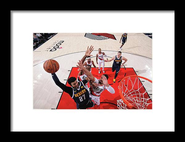 Playoffs Framed Print featuring the photograph Jamal Murray by Sam Forencich
