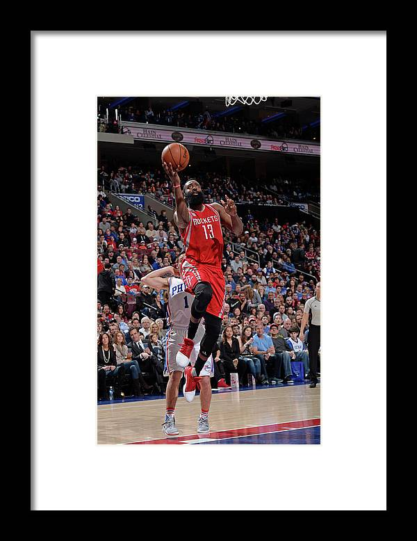 Nba Pro Basketball Framed Print featuring the photograph James Harden by David Dow