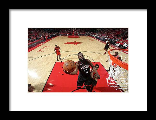 Playoffs Framed Print featuring the photograph James Harden by Nathaniel S. Butler