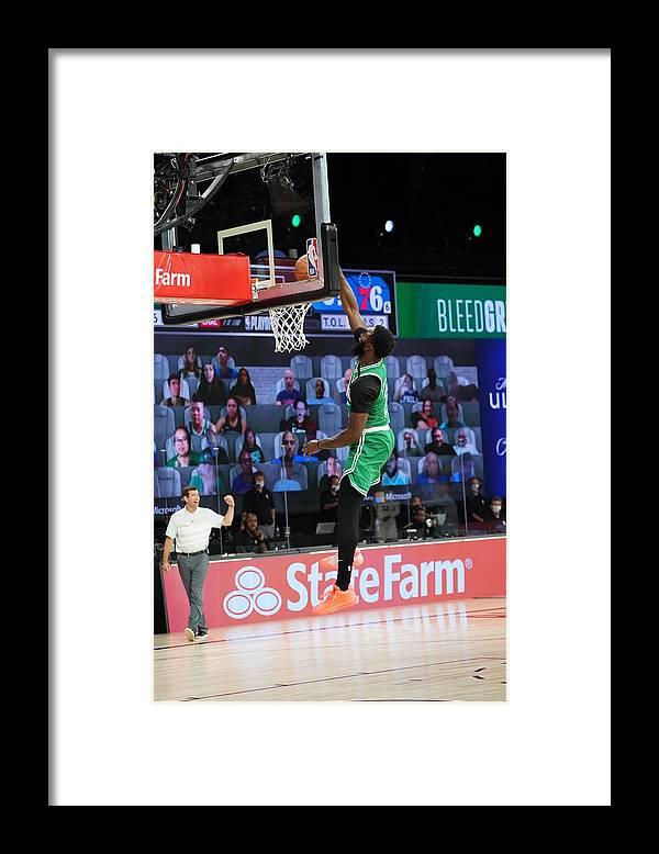 Playoffs Framed Print featuring the photograph Jaylen Brown by Jesse D. Garrabrant