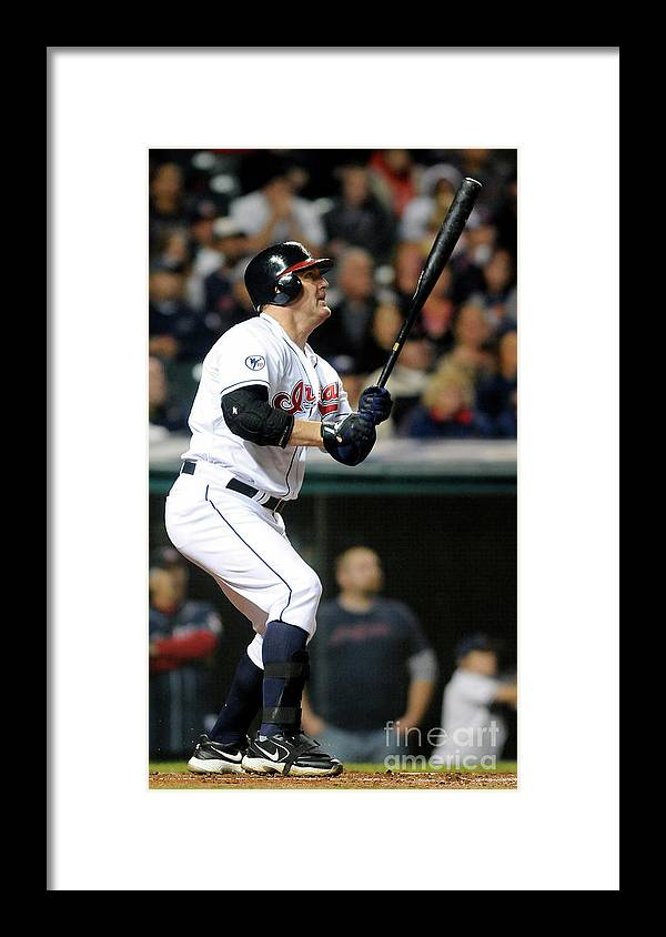 American League Baseball Framed Print featuring the photograph Jim Thome by Jason Miller