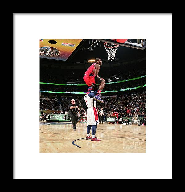 Nba Pro Basketball Framed Print featuring the photograph John Wall by Nathaniel S. Butler