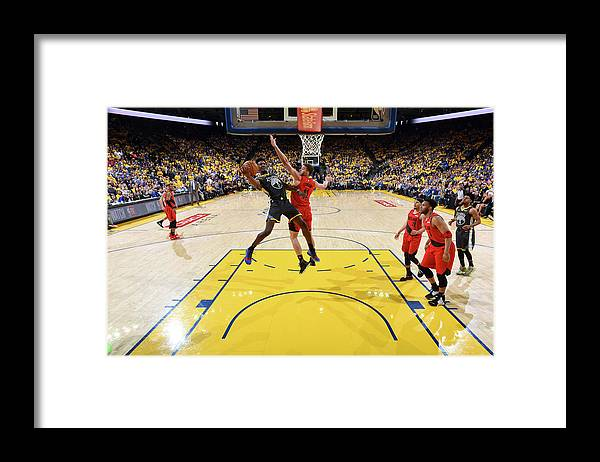 Game Two Framed Print featuring the photograph Jordan Bell by Andrew D. Bernstein
