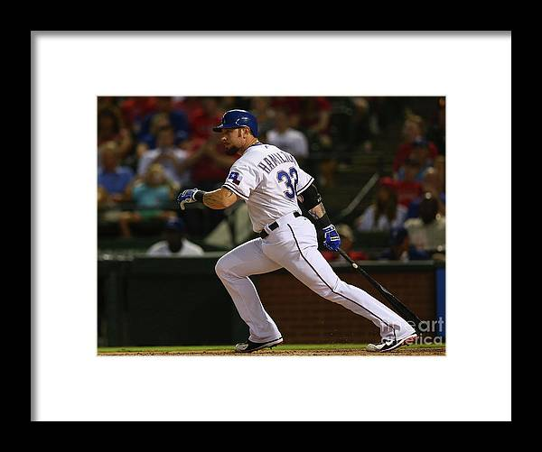 People Framed Print featuring the photograph Josh Hamilton by Ronald Martinez