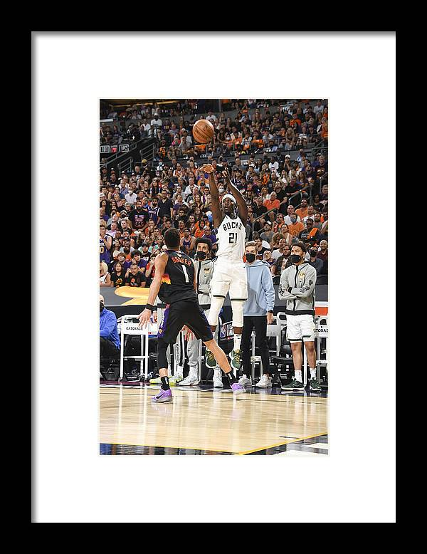 Playoffs Framed Print featuring the photograph Jrue Holiday by Andrew D. Bernstein