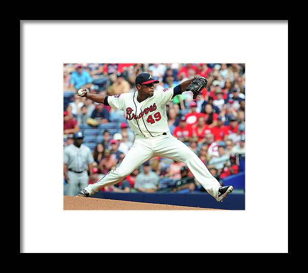 Atlanta Framed Print featuring the photograph Julio Teheran by Scott Cunningham