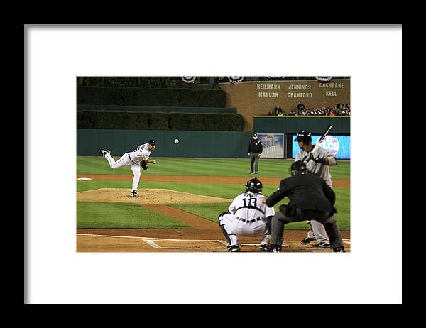 Playoffs Framed Print featuring the photograph Justin Verlander by Leon Halip