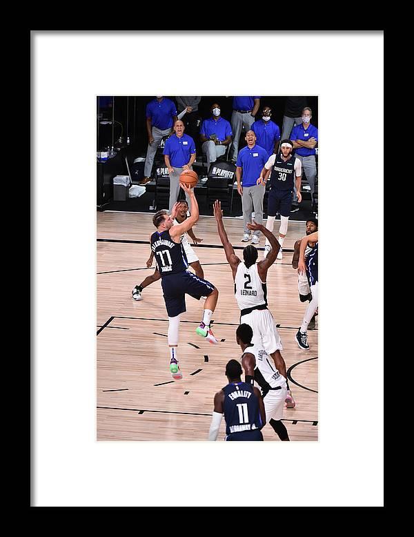 Playoffs Framed Print featuring the photograph Kawhi Leonard by David Dow