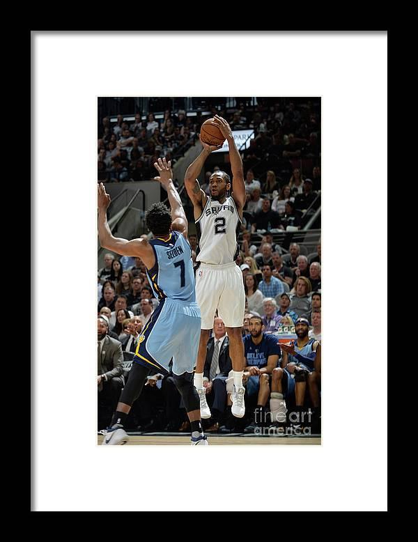 Playoffs Framed Print featuring the photograph Kawhi Leonard by Mark Sobhani