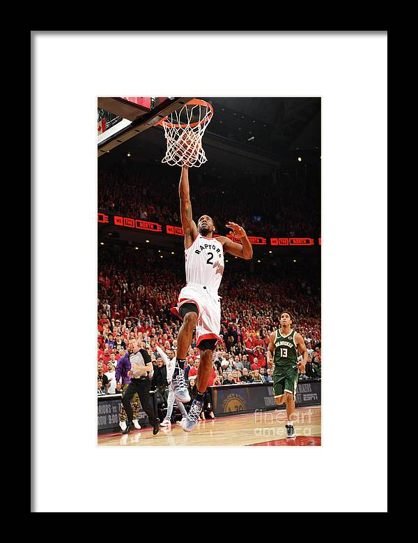 Playoffs Framed Print featuring the photograph Kawhi Leonard by Ron Turenne