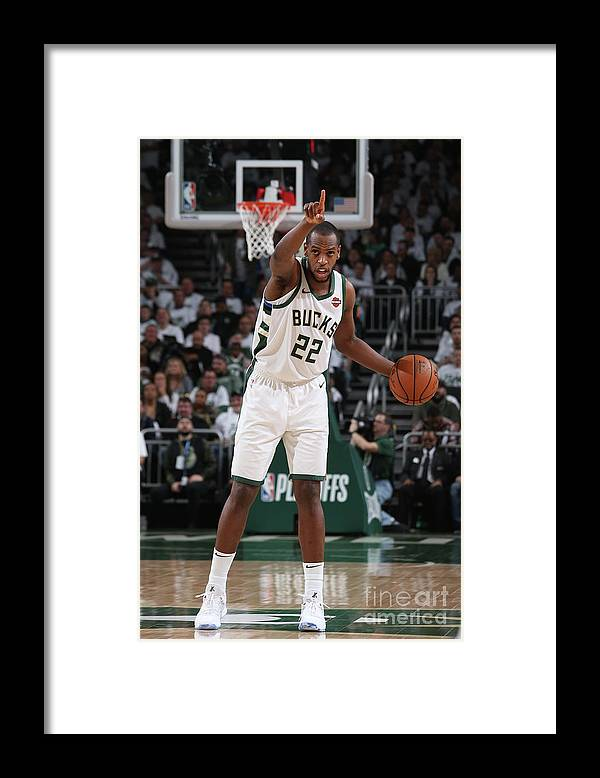 Playoffs Framed Print featuring the photograph Khris Middleton by Gary Dineen