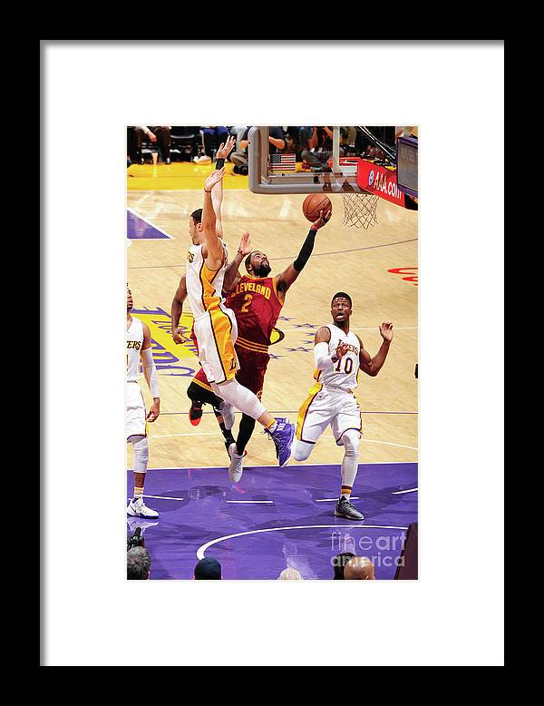 Nba Pro Basketball Framed Print featuring the photograph Kyrie Irving by Andrew D. Bernstein