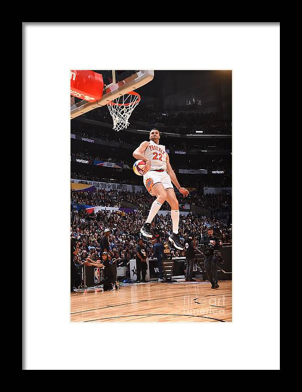 Event Framed Print featuring the photograph Larry Nance by Andrew D. Bernstein