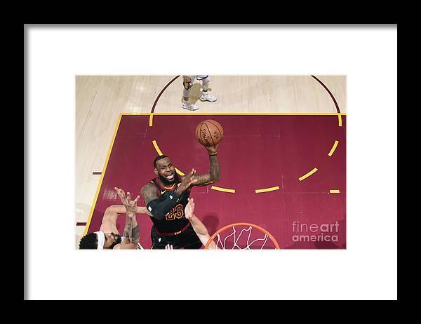 Playoffs Framed Print featuring the photograph Lebron James by Garrett Ellwood