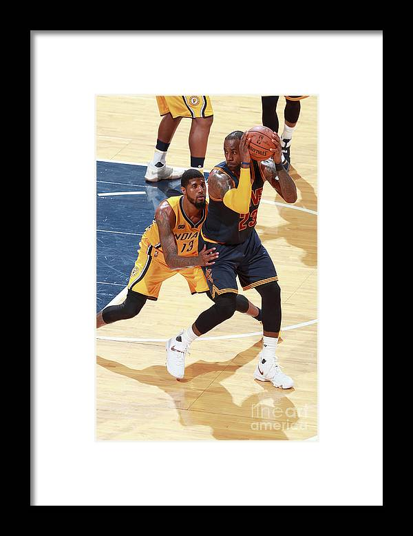 Playoffs Framed Print featuring the photograph Lebron James by Jeff Haynes