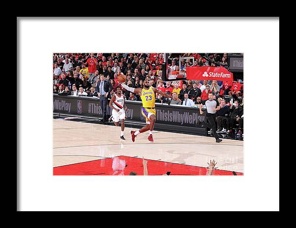 Nba Pro Basketball Framed Print featuring the photograph Lebron James by Sam Forencich