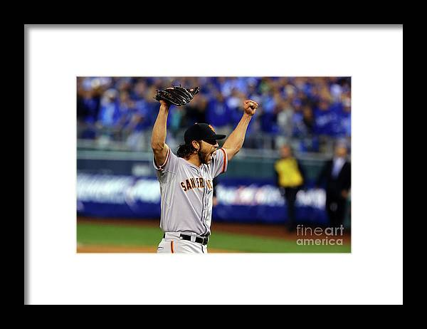 People Framed Print featuring the photograph Madison Bumgarner by Elsa