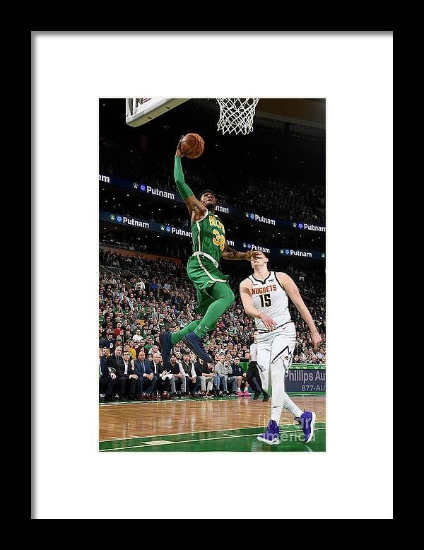 Nba Pro Basketball Framed Print featuring the photograph Marcus Smart by Brian Babineau