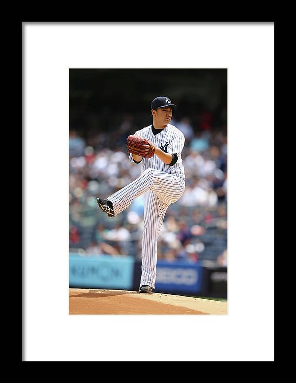 American League Baseball Framed Print featuring the photograph Masahiro Tanaka by Al Bello