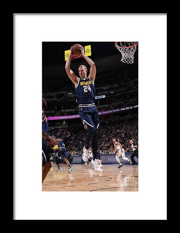 Nba Pro Basketball Framed Print featuring the photograph Mason Plumlee by Garrett Ellwood