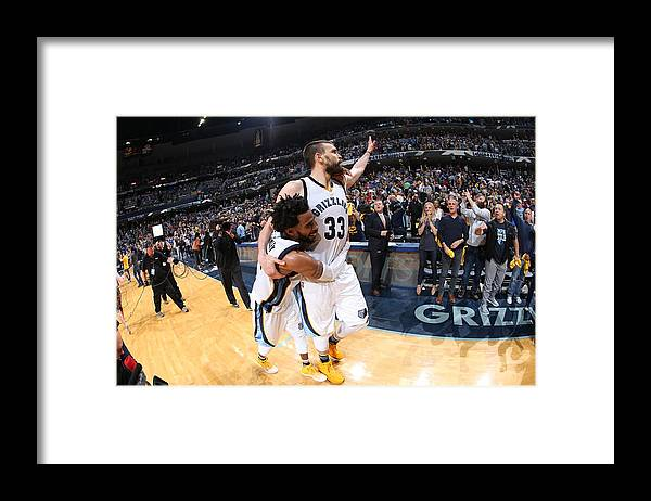 Playoffs Framed Print featuring the photograph Mike Conley by Joe Murphy
