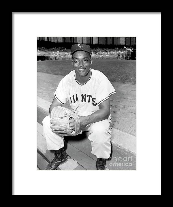 People Framed Print featuring the photograph Monte Irvin by Kidwiler Collection