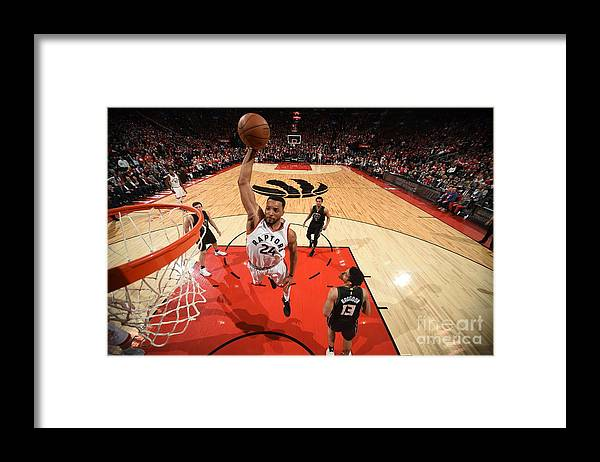 Playoffs Framed Print featuring the photograph Norman Powell by Ron Turenne