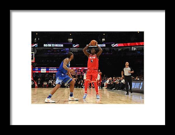 Nba Pro Basketball Framed Print featuring the photograph Pascal Siakam by Jesse D. Garrabrant