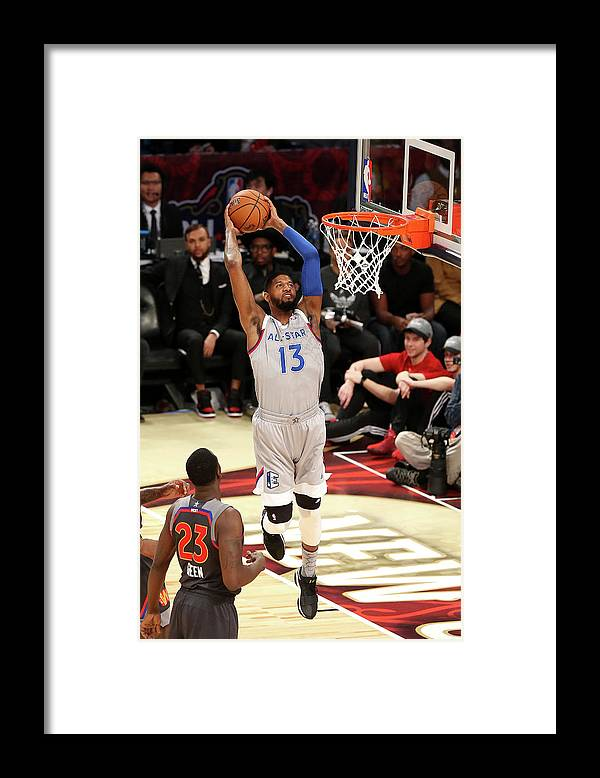 Event Framed Print featuring the photograph Paul George by Layne Murdoch