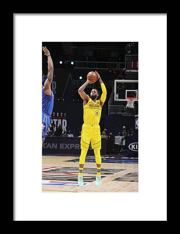 Atlanta Framed Print featuring the photograph Paul George by Nathaniel S. Butler