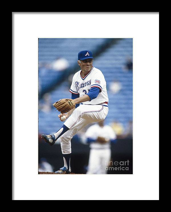 Atlanta Framed Print featuring the photograph Phil Niekro by Rich Pilling