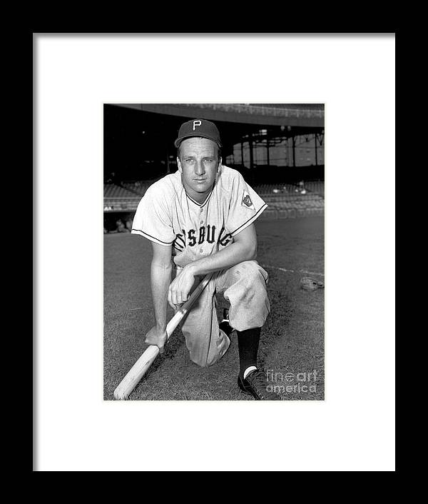 1950-1959 Framed Print featuring the photograph Ralph Kiner by Kidwiler Collection