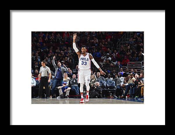 Nba Pro Basketball Framed Print featuring the photograph Robert Covington by Jesse D. Garrabrant