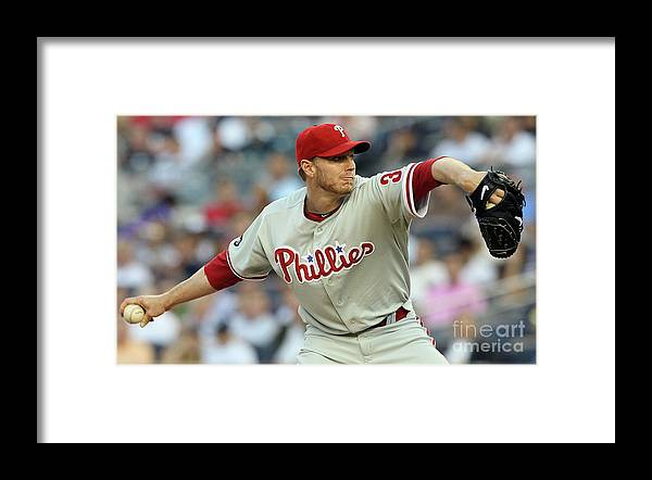American League Baseball Framed Print featuring the photograph Roy Halladay by Jim Mcisaac